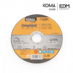 Disco acero para hierro y acero inoxidable marca Koma Tools