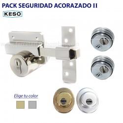 Pack de seguridad acorazado con cilindro Keso , 2 protectores anti tubo